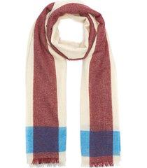 border lightweight cashmere scarf
