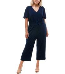 monteau trendy plus size wide-leg jumpsuit