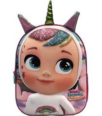 mochila 3d dreamy con orejas multicolor cry babies
