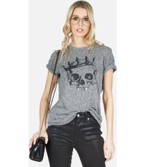 capri royal skull - xl heather grey burnout