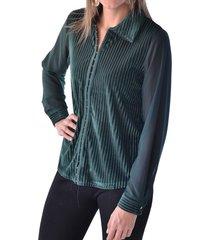blusa broches verde alexandra cid