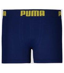 cueca boxer puma sem costura infantil marinho