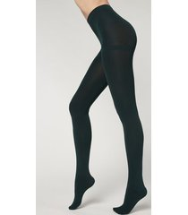 calzedonia thermal super opaque tights woman green size 4