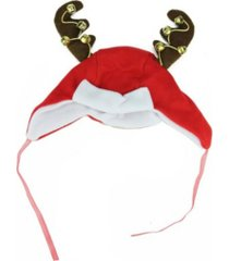 northlight and reindeer antlers unisex adult christmas trapper hat costume accessory