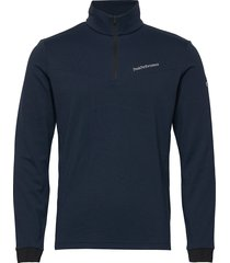 chase mid half zip men sweat-shirt tröja blå peak performance