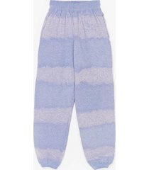 womens hippy camper high-waisted tie dye joggers - purple