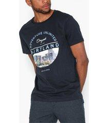 jack & jones jorcool city tee ss crew neck t-shirts & linnen mörk blå