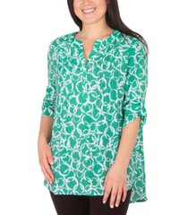 ny collection petite printed pintuck top