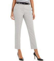 calvin klein slim-fit belted twill dress pants