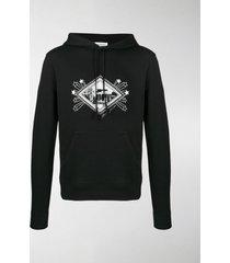 saint laurent graphic print hoodie