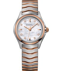 women's ebel wave bracelet watch, 30mm