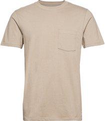organic cotton pocket t-shirt t-shirts short-sleeved beige gap