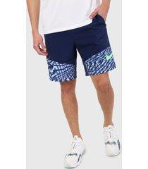 pantaloneta  azul-blanco nike fitness flex