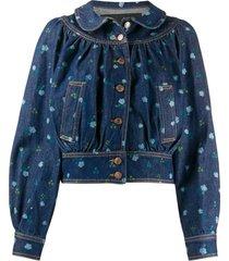 marc jacobs the blouson jacket - blue