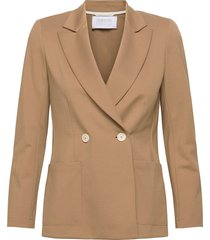 women d. b. blazer with shoulder pads techno viscose blazers casual blazers beige harris wharf london