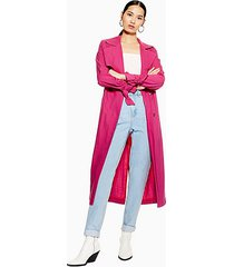pink belted trench coat - bright pink