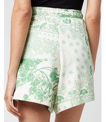 holzweiler women's musan sweat shorts - green mix - l