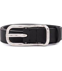 chloé slim leather belt - black