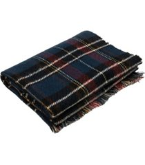 glitzhome men's and women's plaid reversible scarf with fringes