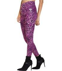 legging long leopard rosado ngx