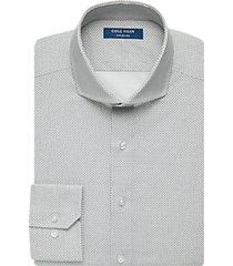cole haan grand.øs black micro dot slim fit dress shirt