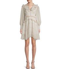 asymmetrical ruffled mini dress
