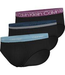 calvin klein 3-pack brief slips zwart - t6d