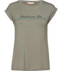 embrace ss top t-shirts & tops short-sleeved grön soft rebels