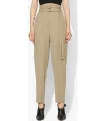 proenza schouler wool belted tapered pants sage/neutrals 6