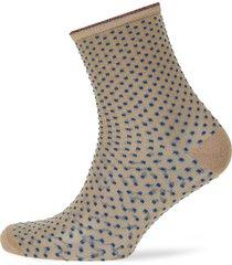 dina small dots lingerie hosiery socks brun becksöndergaard