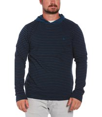 men's original penguin stripe pullover hoodie, size xx-large r - blue
