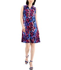 nine west printed sleeveless dress