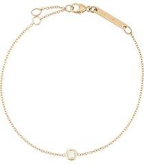 zoë chicco 14kt yellow gold single floating diamond bracelet