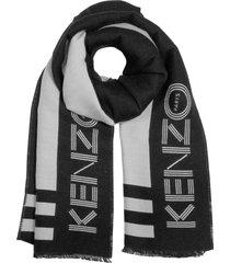 kenzo kenzo sport wool mix winter scarf