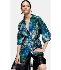 *printed poplin shirt by topshop boutique - multi