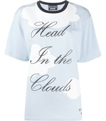 boutique moschino head in the clouds t-shirt - blue