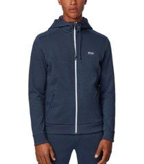 boss men's saggy tr zip-through hooded sweatshirt