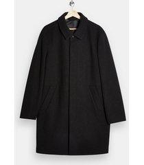 mens black blck classic fit overcoat