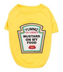 parisian pet mustard licker dog t-shirt