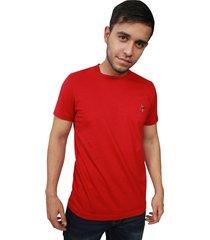 camiseta hombre summer rojo bordado clásico - crs-1921-01