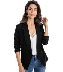 blazer mangas recogidas negro nicopoly