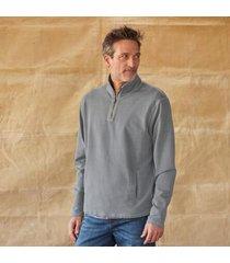 sundance catalog men's forge pullover in enam blue large