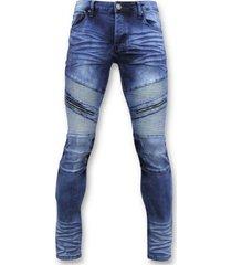 skinny jeans true rise spijkerbroek - biker jeans ribbel- 3023 -
