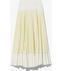 proenza schouler white label crepe colorblock pleated skirt white/paleyellow 4