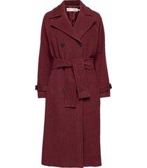zelieiw raglan coat wollen jas lange jas rood inwear