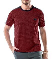 camiseta listras twice no stress vermelha - kanui