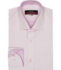 camisa formal pierre d'agostiny para hombre, ref fit flechas rosa