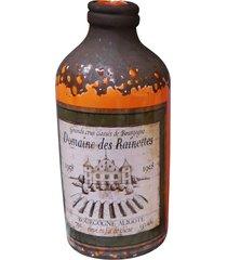 garrafa decorativa cerâmica laranja kasa ideia 20x8,5cm - tricae