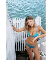 hunkemöller celine brazilian tanga-bikiniunderdel blå