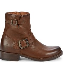 vicky leather booties